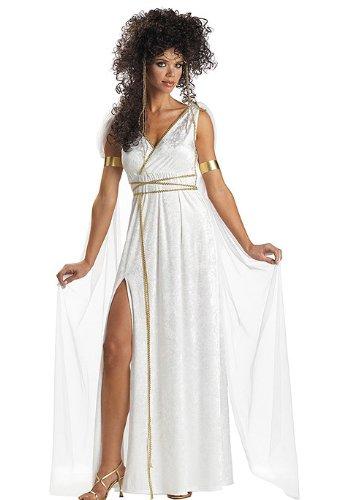 California Costumes Women's Athenian Goddess Costume,White,Medium (Adult Goddess Costume Athenian)
