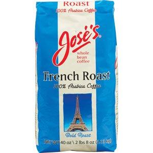 Jose's Whole Bean Coffee, French Roast, 40oz