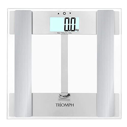 Triomph Digital Body Fat Weight Scale w/ Smart Step-On Technology Extra Large Backlit Display 330 lbs Capacity