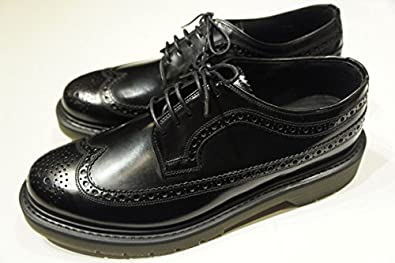【LOAKE】 WINGTIP SHOES ,BLACK GLASS LEATHER, ローク ウィングチップ シューズ ブラック ガラス