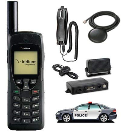 SatPhoneStore Iridium 9555 Satellite Phone Vehicular Package with Vehicular Antenna, Handsfree Dock and Prepaid 300 Minute SIM Card Ready for Easy Activation