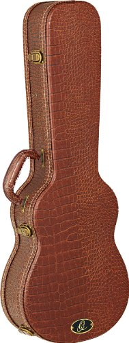 Baritone Guitar Case (Ortega Guitars OUC-BS Baritone/Bass Ukulele Hard Case with Dark Brown Velvet Padding)