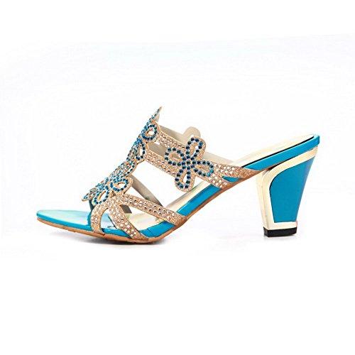 BalaMasa Bleu BalaMasa pour Chaussons Chaussons pour femme BalaMasa Bleu femme X4qgxHw1B
