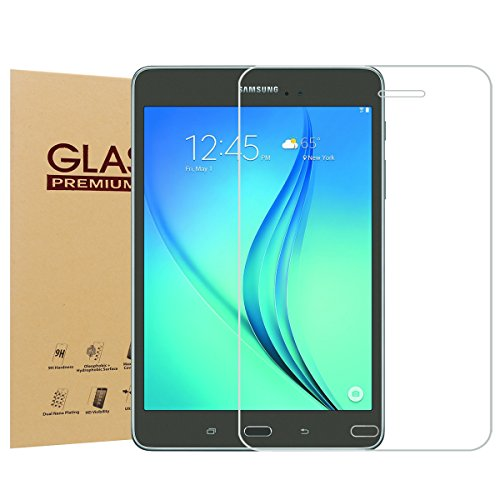 NEWSTYLE Samsung Galaxy Tab A 8.0 SM-T350 Premium Tempered Glass Screen Protector - 9 H Hardness - 0.3mm Thickness - High Definition Clear Tempered Glass