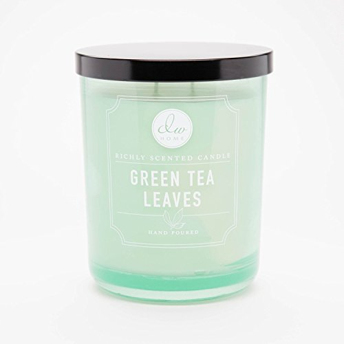 (DW Home Green Tea Leaves Richly Scented Candle Small Single Wick Hand Poured From 4 Oz)
