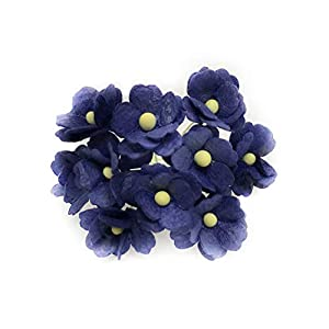 1.5cm Navy Blue Mulberry Paper Flowers, Navy Paper Hydrangea, Wedding Flowers, Wedding Decor, Wedding Table Flowers, Navy Blue Wedding, Artificial Flowers, 50 Pieces 1