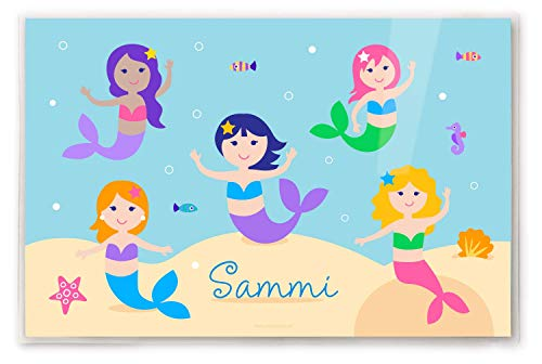 Kids Personalized Placemat - Mermaids Collection
