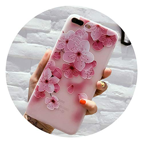 Phone Case for iPhone X XR XS Max 8 7 6 6s Plus Fashion Retro 3D Flower Patterned Soft TPU Back Cover Cases for iPhone 8,Tch,for iPhone 6 6s