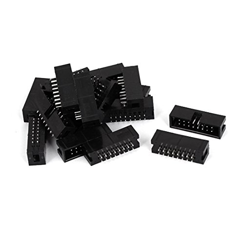 uxcell 2.54mm Pitch 2x8 16-Pin Box Header IDC Socket Straight Connector 18pcs