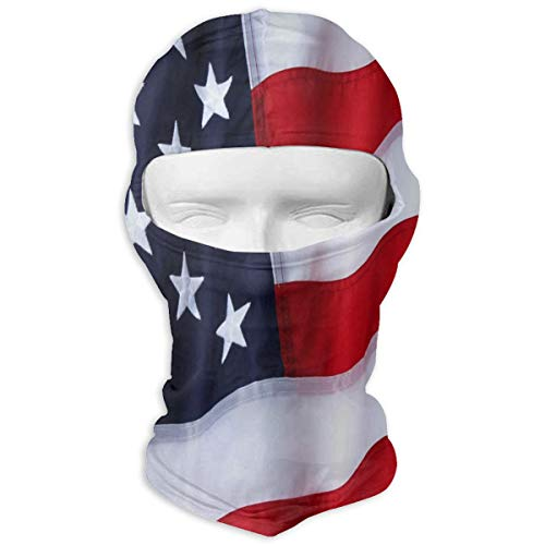 Paintball Mask Usa - Lisang Outdoor Nylon American Flag Full Face Masks UV Balaclava Protection Ski Headwear Motorcycle Neck Warmer Tactical Hood for Cycling Outdoor Sports Snowboard Women Men Youth