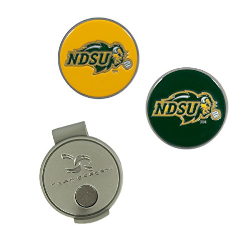 Team Effort North Dakota State Bison Hat Clip & 2 Ball Markers (Two Golf Balls Bison)