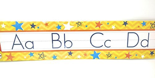 Teaching Tree Manuscript Alphabet Bulletin Back to School Board Set Creative Strips School Office Resources Scholastic Teacher Teacher's Bulletin Trim Wall Border Decal Classroom Decoration Set - Pittsburgh Near Shopping
