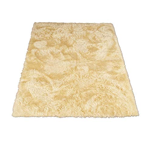 Walk on Me Classic Faux Fur Sheepskin Rug in Ivory - Rectangle - New Made in France (3x5 (Actual 39