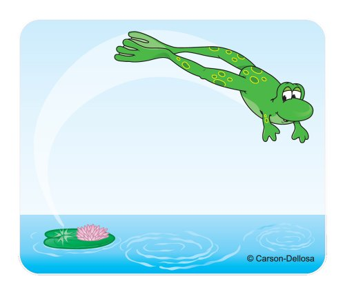 Carson Dellosa Frog Name Tags (9424) - Fun Frogs Name Tags