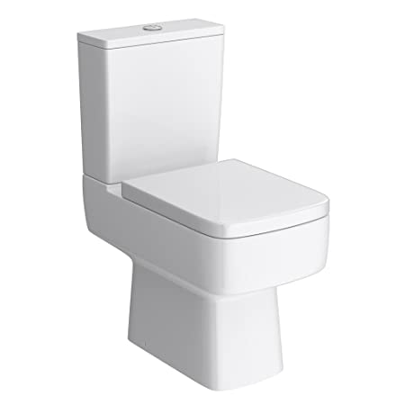 square toilet seat uk. Brooklyn Modern Square Toilet Soft Close Top Fix Seat  Amazon Co Uk