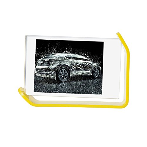 [Fujifilm Instax Mini Frame] -- CAIUL 300 Degrees Rotatable Clear Acrylic Frame, Double Sided Photo Frame for Instax Mini 8 8+ 9 70 7s 90 25 26 50s Film, Yellow