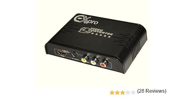 Ex-Pro AV-Pro RCA AV Audio y vídeo/S-VHS y Salida de conversor HDMI a HDMI con Escalador: Amazon.es: Electrónica