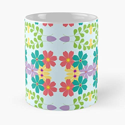 Too Many Pattern Attempts Froggy Fresh Flowers Pictures Grape Leaves - 11 Oz Coffee Mugs Unique Ceramic Novelty Cup, The Best Gift For Holidays.