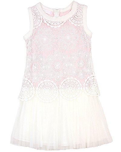 Biscotti Girls' Drop Waist Dress Crazy For Crochet, Sizes 4-10 - 8 by Biscotti