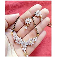 Mangalsutra Pendant Earrings Set