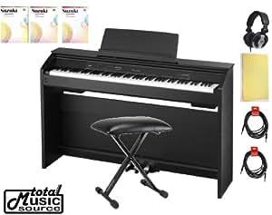 casio privia px 850 digital piano home bundle black w bench suzuki piano books. Black Bedroom Furniture Sets. Home Design Ideas