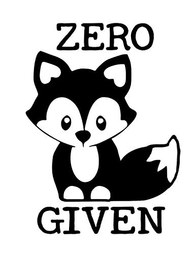 Zero Fox Given Vinyl Decal Sticker (Sticker Annual Disney Pass)