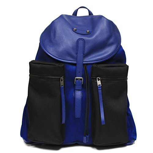 balenciaga-nylon-and-leather-veau-navy-blue-backpack-bag-411530