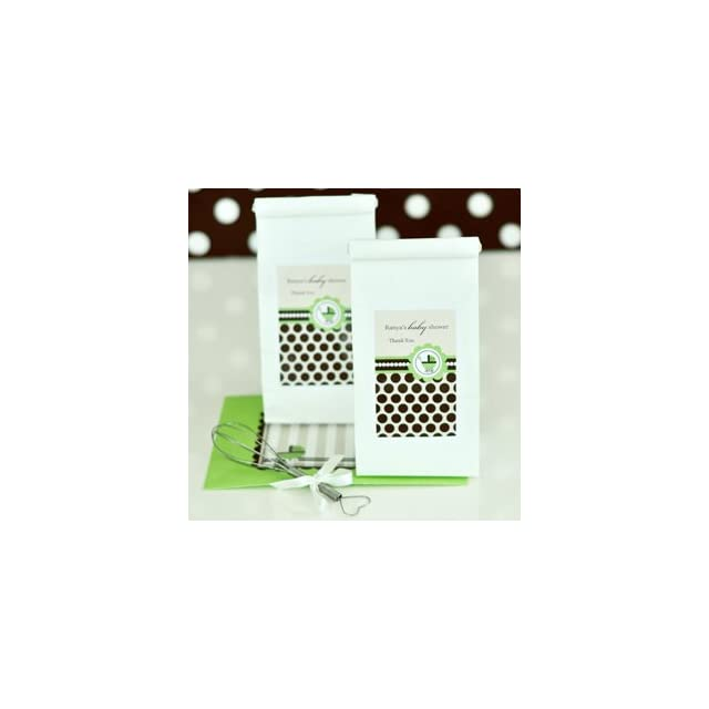 96PC EB2042BG Personalized Sugar Cookie Mix Green Baby Wedding Baby Shower Favor