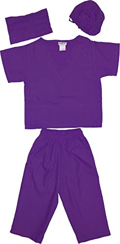 Kids Doctor Dress up Surgeon Costume Set, 6/8, Purple -
