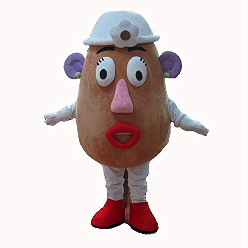 100% Real Photos Adult Ms Potato Mascot Costume for Party Cartoon Mascots Character Cosplay Dress Deguisement Mascotte]()