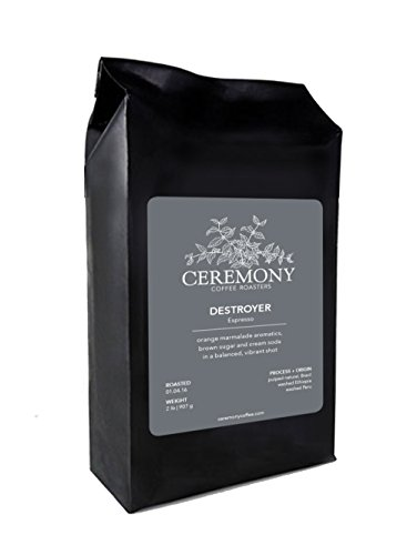 Cheap Ceremony Coffee Roasters – Destroyer Espresso Blend – Specialty Whole Bean or Ground Coffee- 2lb Bag (Whole Bean)