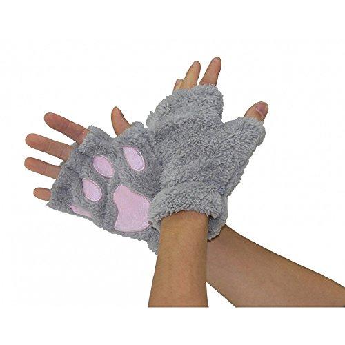 Bear Paw Fingerless Gloves -