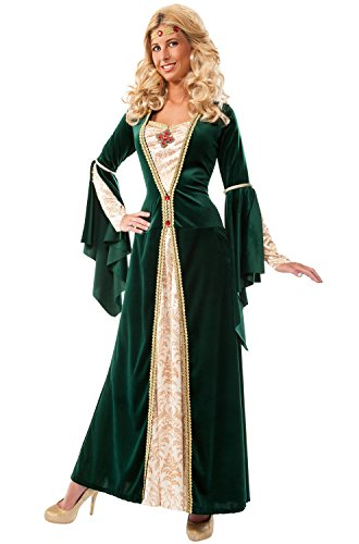 [Rubie's Costume Co Women's King's Mistress Costume, Multi, Small] (Green Medieval Dress)
