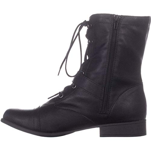 Price comparison product image American Rag Womens Farahh Round Toe Ankle Combat Boots,  Black,  Size 7.0