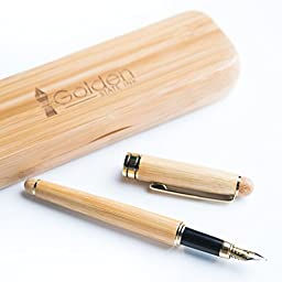 [Top Rated Bamboo Fountain Pen] Designer Luxury Fountain Pens by Golden State Ink - our \