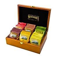 Madura Wooden Tea Box with 72 Enveloped Tea Bag Assortment 72 Pieces