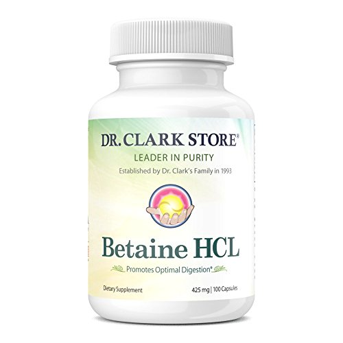 Dr. Clark Betaine HCL Supplement, 425mg, 100 capsules