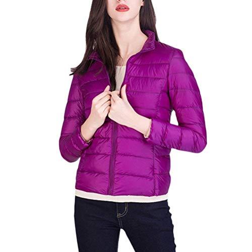 Donne Collo Coreana Classiche Prodotto Piumino Di Fashion Dark Purple Autunno Plus Slim Outwear Manica Piumini Transizione Giacca Packable Laisla Invernali Fit Leggero Donna Lunga 1vqHWHP6