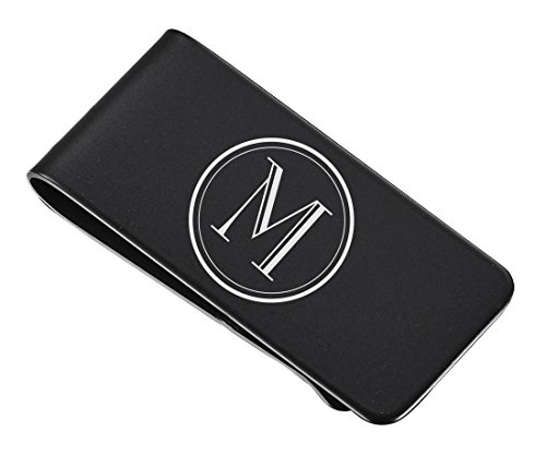 (Personalized Visol Black Matte Money Clip With Free Engraving)