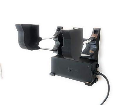 Soporte de Pared para Patinete y Cargador Xiaomi M365 Color Negro