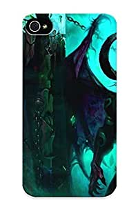 Appearance Snap-on Case Designed For Iphone 4/4s- Wings World Of Warcraft Horns Devil Illidan Stormrage Blizzard Entertainment Artwork Swords World Of Warcraft The Burning Crusade Demon Blizzard (best Gifts For Lovers)