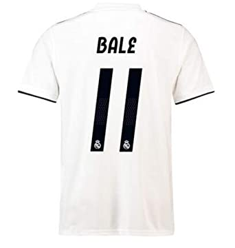 new product bce08 a6f45 Real Madrid Bale #11 Jerseys Mens Home Soccer T-Shirt Jersey 18-19 Season  Color White(S-XL)