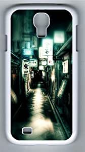 Japan Street Lights Polycarbonate Hard Case Cover for Samsung Galaxy S4/Samsung Galaxy I9500 White