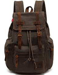Genda 2Archer Multifunctional Canvas Backpack for Men and Women (Army Green)