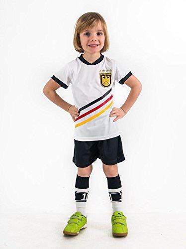 Fußball Trikotset Trikot Kinder 4 Sterne Deutschland WUNSCHNAME Nummer Geschenk Größe 98-170 T-Shirt Weltmeister 2014 Fanartikel EM 2016 (104)