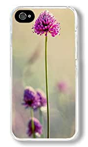 Beautiful Clover Custom iPhone 4S Case Back Cover, Snap-on Shell Case Polycarbonate PC Plastic Hard Case Transparent
