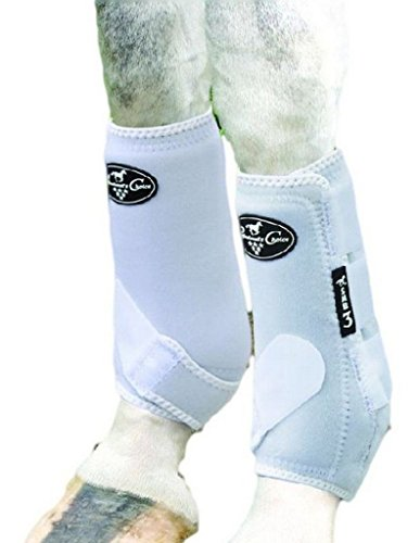 Professionals Choice Equine Sports Medicine Boot Value Pack, Set of 4 (Medium, White)