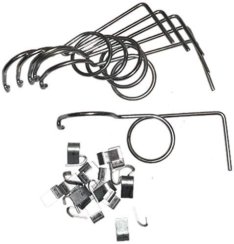 rabbitnipples.com 6 Pack Wire Door Cage Latches Right with J-Clips
