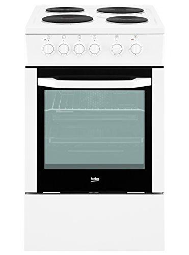 Beko CSE 56000 GW Standbackofen / A / Abdeckung für das Kochfeld / Blitz-Kochplatte / Vollglasinnentür / weiß