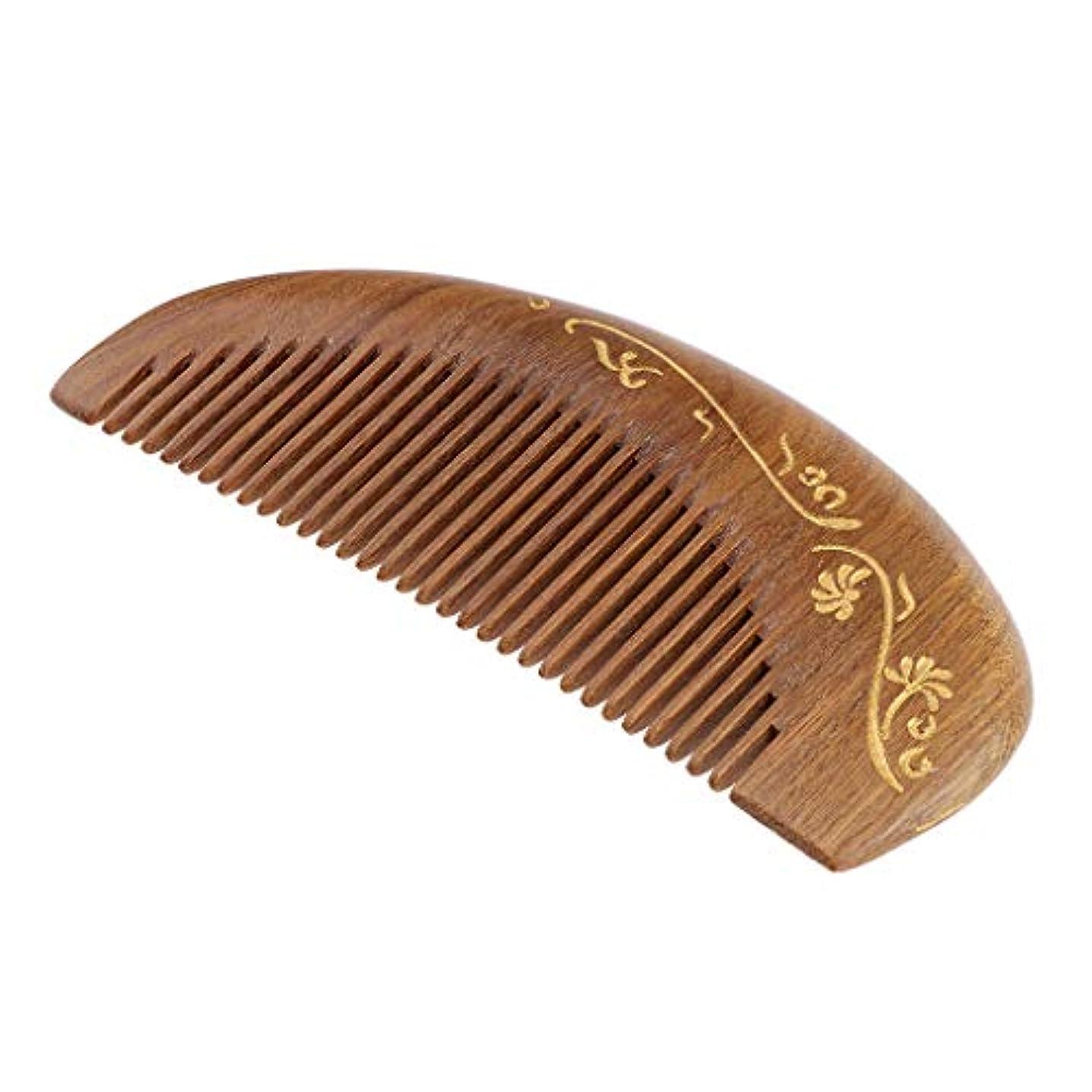 舌な信頼性のあるメイドP Prettyia 帯電防止櫛 ウッドヘアーコーム 頭皮マッサージ 櫛 レトロ 4仕様選べ - #2
